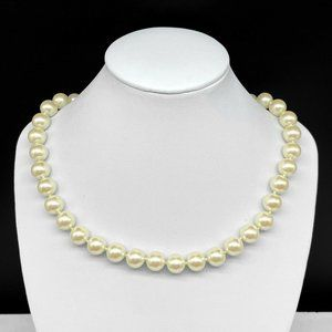 Vintage Carolee Faux Pearl Beaded Choker Necklace
